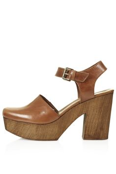 Photo 1 of SMILE Leather Wooden Clogs