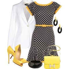 Polka Dots for Spring, created by terry-tlc on Polyvore