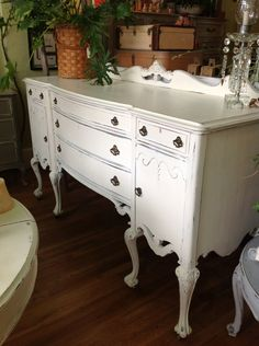 sideboards and buffets | Antique Sideboard Shabby Chic by TessHome on Etsy