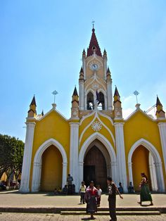 Antigua, Guatemala. This church had huge rosary beads on it while I was there October, 2012