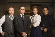 Murdoch Mysteries. This is a crime-solving program set in Toronto, Ontario Canada in the late 1800s. I think it's really entertaining despite all the potential it had to be terrible (as some other historical TV shows unfortunately turn out to be).