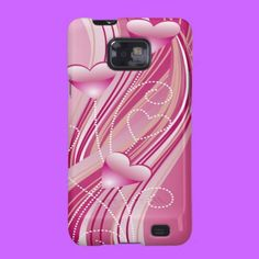 Pink Hearts Samsung Galaxy S2 Case