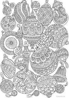 Mushrooms – Printable Adult Coloring Pages from Favoreads… Christmas Coloring Sheets, Printable Christmas Coloring Pages, Printable Adult Coloring Pages, Coloring Book Pages, Christmas Colors, Christmas Art, Christmas Decorations, Xmas, Colorful Drawings