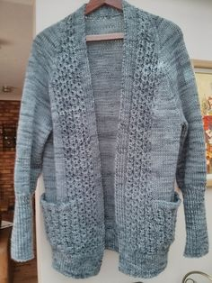 Kettle Yarn Co. WALTHM Aran  in Peaky Blinder ...clairette's Brynja - pattern by Linda Lencovic