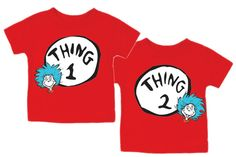 dr seuss | thing 1 and thing 2