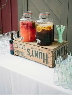 Reception drinks ideas
