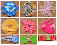 DIY Hair Bows - perfect for little girl gifts!