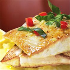 This barramundi recipe is even more delicious served over mashed potatoes or greens. Try adding a few fresh chopped tomatoes for color.