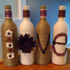 Botellas de vino el amor por StaceysScrapsNSuch en Etsy