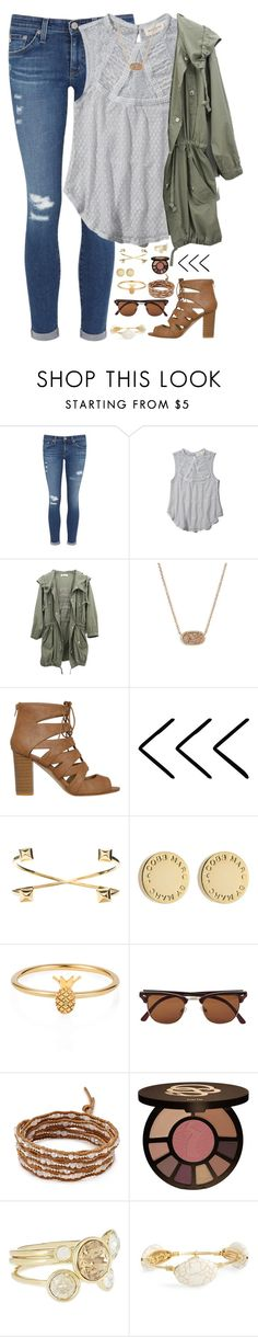 """life is a party once you realize it is"" by kaley-ii ❤ liked on Polyvore featuring AG Adriano Goldschmied, Abercrombie & Fitch, Kendra Scott, Jeweliq, Marc by Marc Jacobs, Lee Renee, Vero Moda, Chan Luu, tarte and Ted Baker"