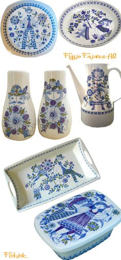 """""""Lotte"""", Figgio, Norway. I have the butter dish, and triangle shaped Salt & Pepper set"""