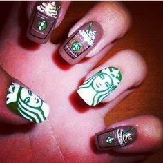 Starbucks nails....@Diana Avery Sanchez we are booked for Amy's Nails
