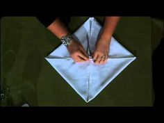 How to fold a pocket square rose - YouTube