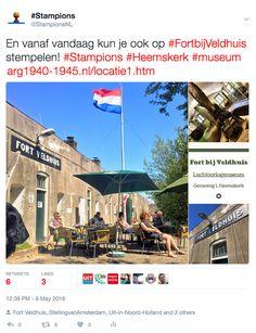 En vanaf vandaag kun je ook op Fort bij Veldhuis stempelen! #Stampions #Heemskerk #museum #FortbijVeldhuis