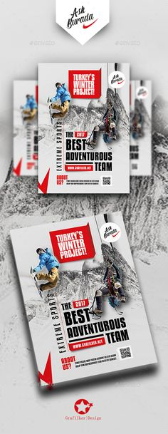 Adventure Flyer Templates #snow #excitement Download : https://graphicriver.net/item/adventure-flyer-templates/19258829?ref=pxcr