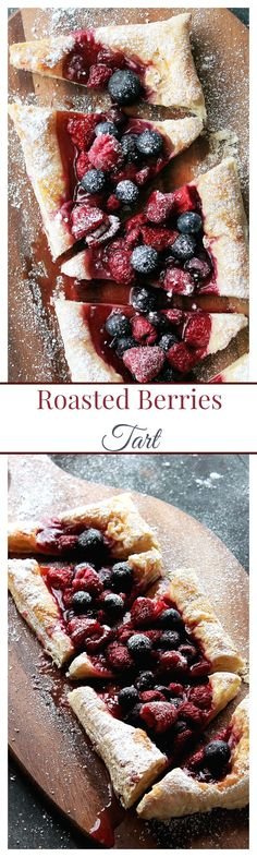 Berries Tart, made with puff pastry and fresh berries, is sweet, tart ...