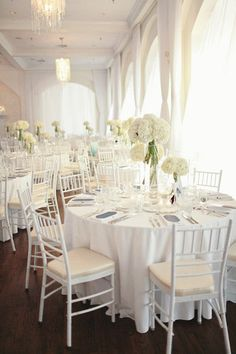 Gorgeous all white tables