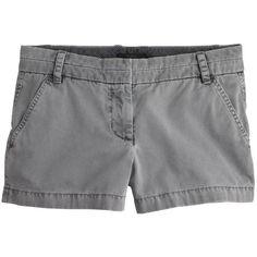 "J.Crew 3"" Chino Short ($47) ❤ liked on Polyvore featuring shorts, bottoms, pants, zipper shorts, short chino shorts, j. crew shorts, chino shorts and short shorts"