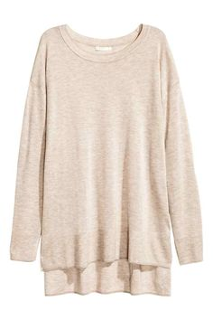 OWLI - H&M - Light Marl Fine-Knit Jumper