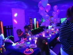 Arianna and Grace`s Glow theme Birthday Party was so much fun!!!!!!