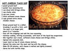 Hot Cheezy Taco Dip