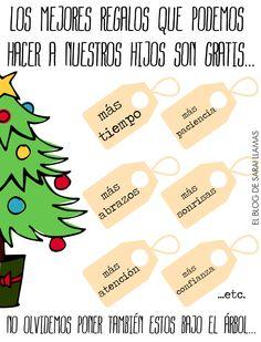 """Frase del día: """"Los mejores regalos son gratis""""                                                                                                                                                                                 Más"""