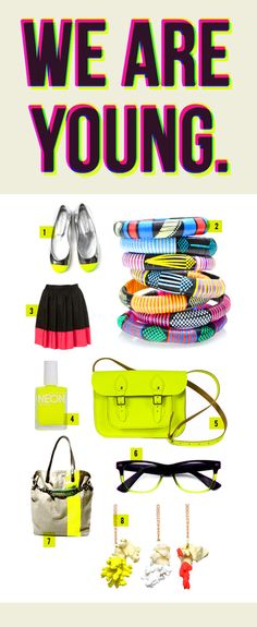 More Design Please - MoreDesignPlease - We Are Young: Neon ColorStory