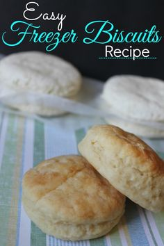 If you are looking for easy freezer recipes to help simplify your life, be sure to check out this Easy Freezer Biscuits Recipe! #freezerrecipes