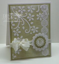 "The ""Belleek Technique"" Stampin' Up! products by Debbie Henderson, Debbie's Designs."