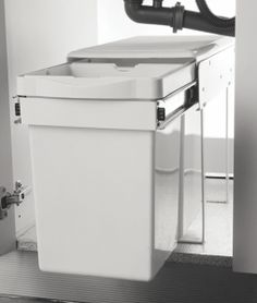Pull out Waste Bin Plastic with Telescopic Sliders Base Mounted Pull Out waste Bin Maximum utilization of space inside the sink cabinet Heavy Duty Telescopic Runners used. Contemporary Kitchen Interior, Sink, Hardware, Bathroom, Sliders, Runners, Base, Plastic, Cabinet