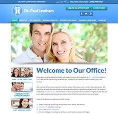 #sesamewebdesign #psds #dental #responsive #top-menu #blue #green #sans #gradient #full-width