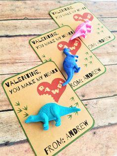 Dinosaur Valentines, Dinosaur School Valentines, You make my heart RAWR, Class Valentines for Boys, Candy Alternative Valentines Valentines Anime, Dinosaur Valentines, Valentines Balloons, Valentines For Boys, Valentines Day Party, Dinosaur Party Favors, Dinosaur Birthday Party, Birthday Party Favors