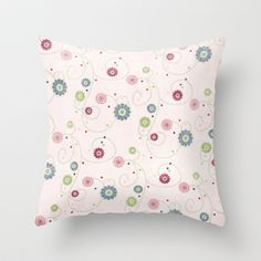 Summer's End Floral Throw Pillow by Correen Silke...