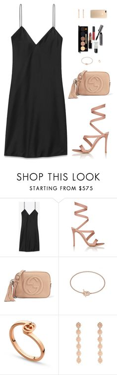 """Sin título #4733"" by mdmsb on Polyvore featuring moda, Yves Saint Laurent, Gianvito Rossi, Gucci y Bobbi Brown Cosmetics"