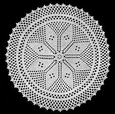 NEW! Star Center Doily crochet pattern from Star Doily Book No. 137, by American Thread Company.