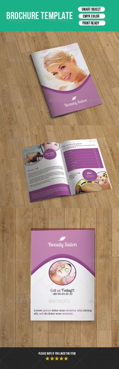 Beauty Care  Salon BiFold Brochure Template  Brochure Template