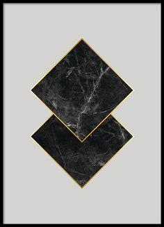 Black marble, poster i gruppen Posters och prints hos Desenio AB (7925)
