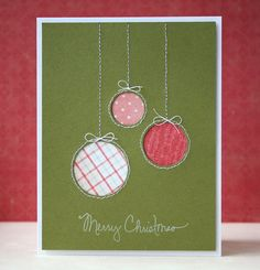 This is so simple and lovely - could easily work with the spellbinders heirloom ornaments...