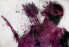 Hawkeye splatter art.