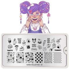 The cutest collection of them all is here! Kawaii designs, adorable illustrations and Japanese inspired images will make your day extra nice! Stamping Nail Polish, Kawaii Nails, Image Plate, Stainless Steel Plate, Cat Paws, Stamping Plates, Gorgeous Nails, Smudging, You Nailed It