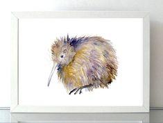 Kiwi Bird Art New Zealand Art Kiwi painting by Zendrawing