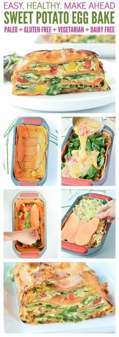 Potato Egg Bake - Vegetarian + Gluten free - Sweetashoney Sweet potato egg bake is an healthy breakfast casserole, paleo, vegetarian whole 30 .Sweet potato egg bake is an healthy breakfast casserole, paleo, vegetarian whole 30 . Healthy Breakfast Casserole, Sweet Potato Breakfast, Healthy Breakfast Recipes, Vegetarian Recipes, Cooking Recipes, Healthy Recipes, Breakfast Potatoes, Paleo Egg Casserole, Breakfast Ideas