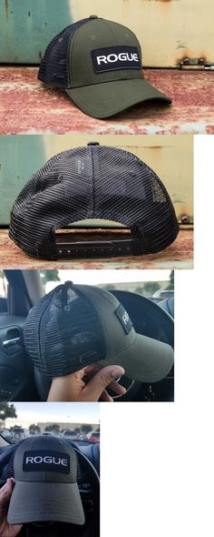 Hats and Headwear 158918: New Rogue Fitness Patch Olive Drab And Black Tactical Trucker Snap Back Mesh Hat BUY IT NOW ONLY: $39.95