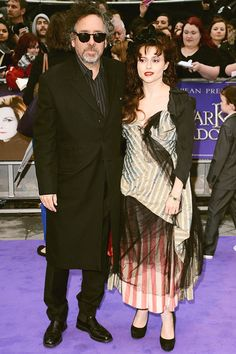 Tim Burton & Helena Bonham Carter    Currently the number one director muse in Hollywood, Helena has gone on to work with Tim in Big Fish, Corpse Bride, Charlie and the Chocolate Factory, Sweeney Todd, Alice in Wonderland and Dark Shadows since meeting on 2001's The Planet of The Apes.