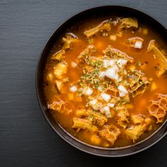 Mexican Menudo/ The Domestic Man Attempting for the family but i don't like it. Authentic Mexican Recipes, Mexican Food Recipes, Real Food Recipes, Ethnic Recipes, Paleo Recipes, Soup Recipes, Cooking Recipes, Tripe Recipes, Easy Recipes