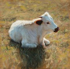 Artist: Teresa Elliott - Title: Morning Calf, oil