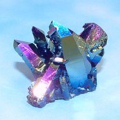 Titanium Flame Aura Quartz Crystal Cluster