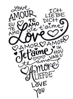 this fits me perfectly . I love you in french or spanish just sounds so romantic Te amo All You Need Is Love, My Love, For You, I Love Heart, Heart Type, Love Languages, The Words, Silhouette Cameo, Silhouette Files