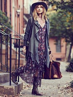 Free People Lucy Button Front Maxi Slip