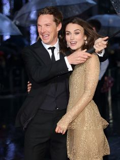Keira Knightley and Benedict Cumberbatch attend a screening